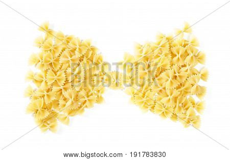 Bow Tie Shape Heap Of Farfalle Pasta