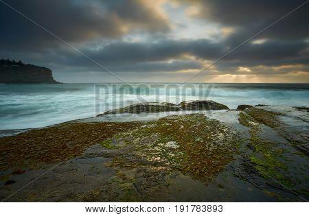 Moody Day Over Bilgola Rockshelf Australia