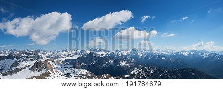 Wide View From Nebelhorn Summit In The Allgau Alps