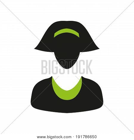 Vector icon business woman for websites and mobile isolated on white background