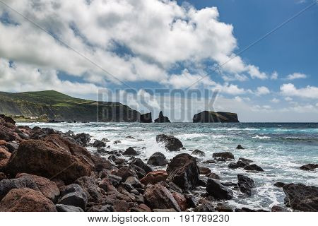 Coast By The Town Of Mosteiros On The Island Of Sao Miguel.