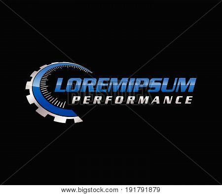 Auto Performance Logo. Illustration design. Fully editable vector