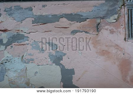texture dilapidated wall background sharped with pink