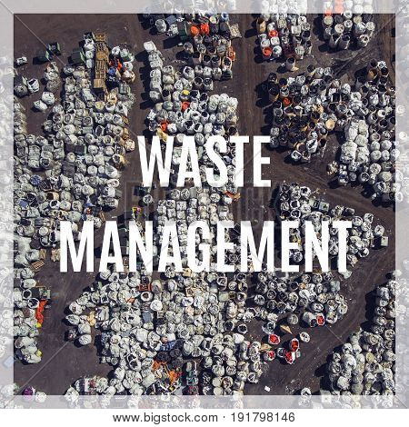 Waste Management. Landfill For Waste Storage. View From Above.
