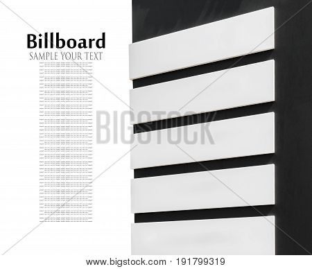 Billboard pointer with place for your text isolated on white. Text delete