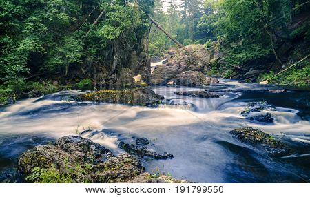 Scenic stream with rapids on Upper Peninsula, Michigan