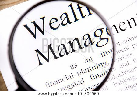 wealth management business concept on white background