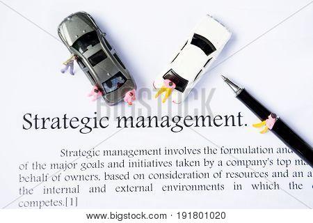 strategic management focus text on white background