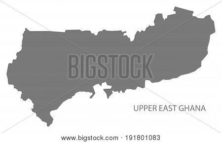 Upper East Ghana Map Grey Illustration Silhouette