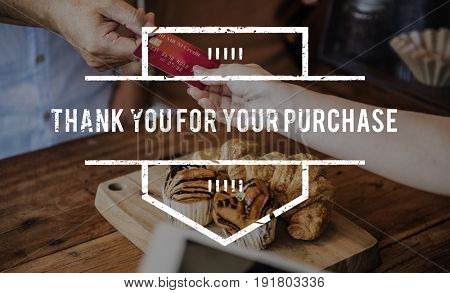 Purchase Buy Pay Check Word Graphic Stamp Banner
