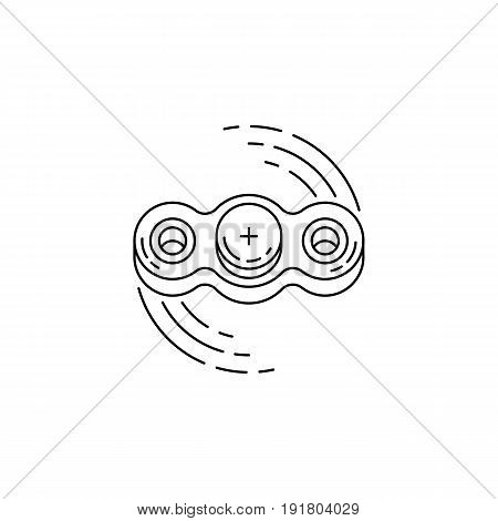 Toy hand spinner vector the rotating mechanism on bearings
