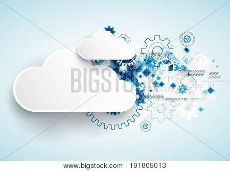 Web Technology Bussines Abstract Background