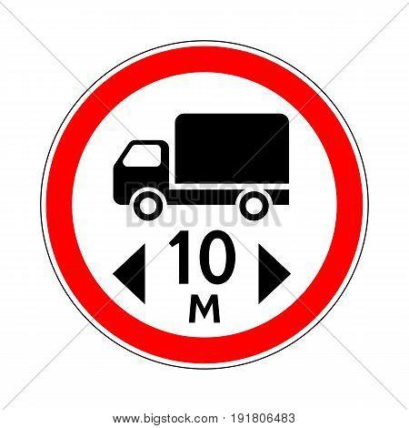 Illustration of Road Prohibitory Sign Maximum Vehicle Length
