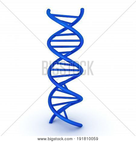 3D illustration of dna double helix. Image relating to medical research.