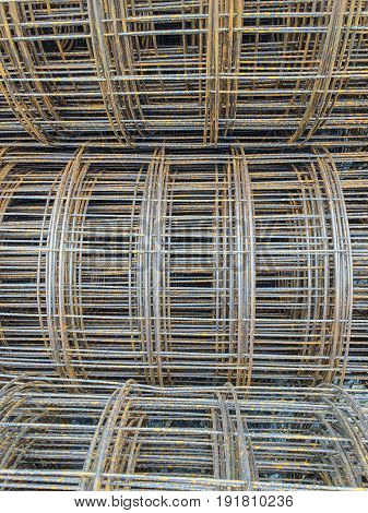 Rolls of steel wire mesh  for building construction on the ground using as concrete inside mesh