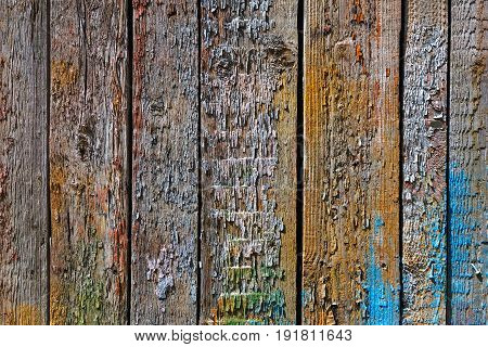 Bright Colors Wooden Background