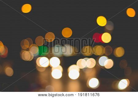 Abstract background of blur lighting during traffic jam. blurred image of car's light.