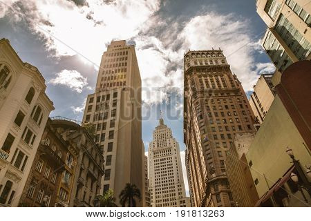 Awesome view of Sao Paulo, Brazil