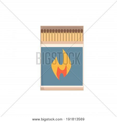 Open matchbox with matches vector Illustration isolated on a white background