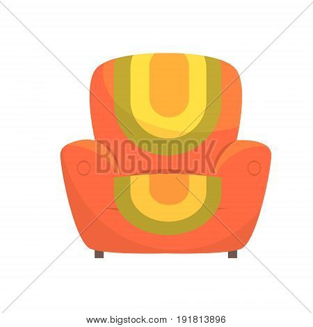 Colorful comfortable armchair vector Illustration isolated on a white background