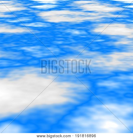 abstract stained seamless pattern texture background - blue sky with white clouds