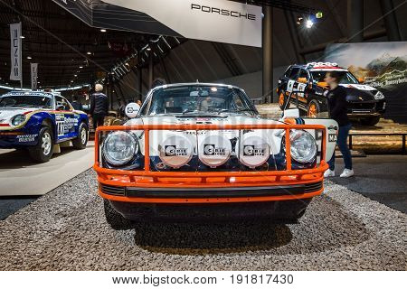 STUTTGART GERMANY - MARCH 03 2017: Sports car Porsche 911 SC Safari 1978. Europe's greatest classic car exhibition