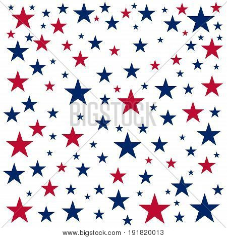 American Independence Day. 4Th July. Template Background For Greeting Cards, Posters, Leaflets And B