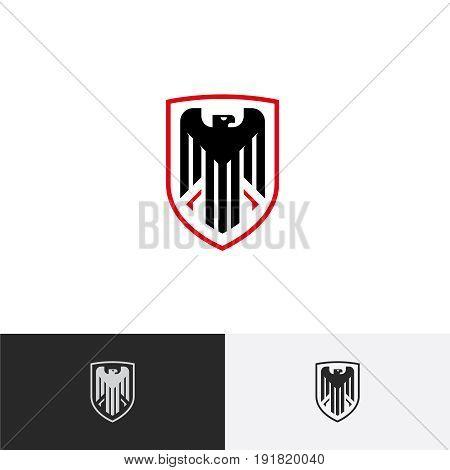 Eagle logo Eagle in a Shield logo Protection logo Vector logo template.