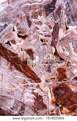 Texture of marble of red and pink colors