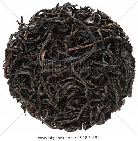 Wild tree purple black tea from Dehong prefecture Yunnan province China isolated
