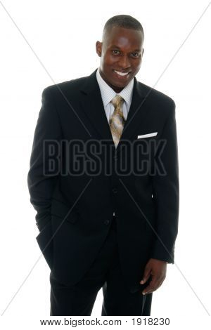Business Man In Black Suit 3