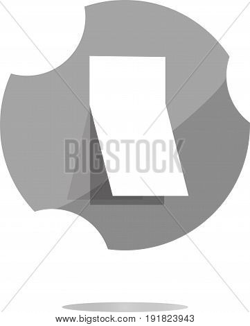 Blank Sticker With Curled Corner On Web Icon (button)