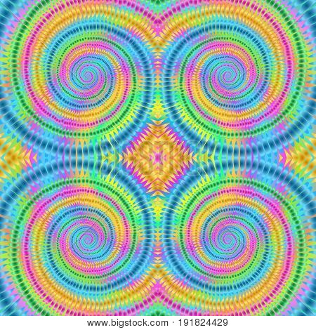 Boho tie-dye background. Hippie style. Watercolor effect vector. Rainbow textile. Shibori. Editable vector made with clipping mask. Batik effect. Trendy wallpaper.