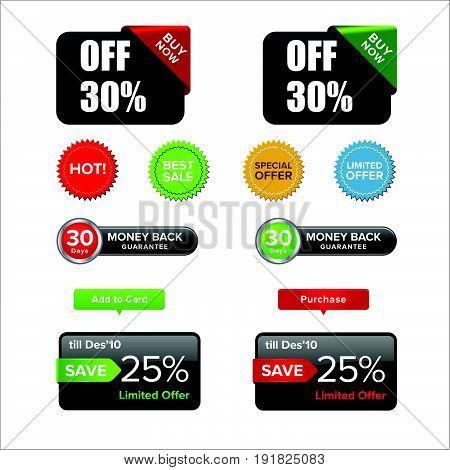 web element  comerce set. Illustration design. Fully editable vector