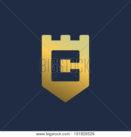 Letter C Shield Logo Icon Design Template Elements