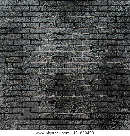 Rough black brick walls. Background for design