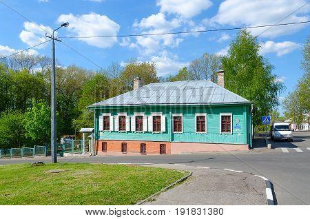 POLOTSK BELARUS - MAY 19 2017: Museum of traditional hand-weaving Poozorya Voykova street 1 Polotsk Belarus