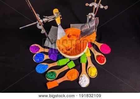 Orange Color Ink