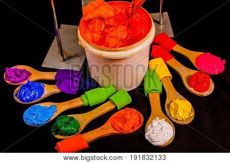 colors of Plastisol ink. the screen printing tee shirt factory always use plastisol ink for print on any fabric