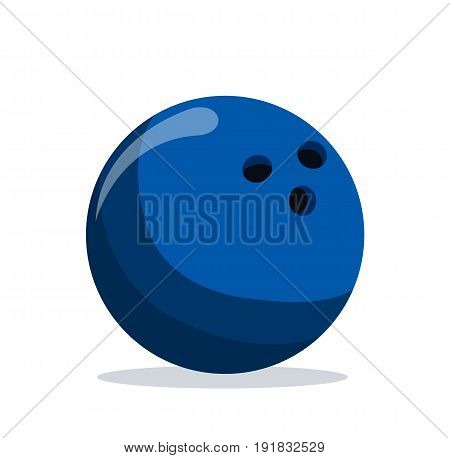 Bowling ball. Bowling icon. Bowling ball in flat style. Vector stock.
