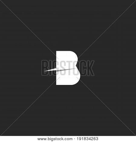 Letter B Logo Modern Design Element Template. Paper Material Idea Identity Mark. Business Card Tech