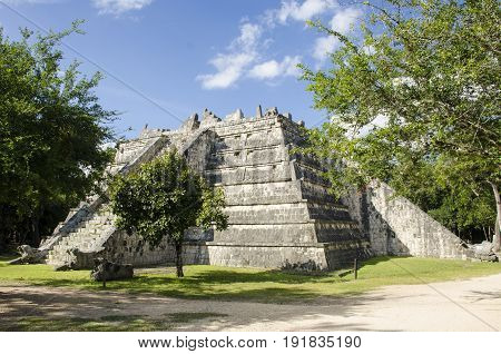 The Ossary building at Chichen Itza, Mexico