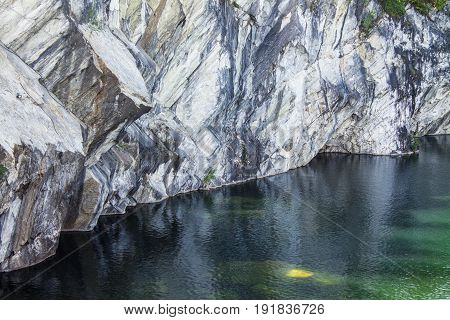 Landscape with marble quarry in Ruskeala Karelia Russia
