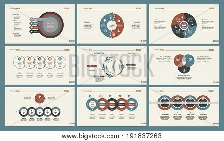 Infographic design set can be used for workflow layout, diagram, annual report, presentation, web design. Business and management concept with process, percentage, timing and area charts.