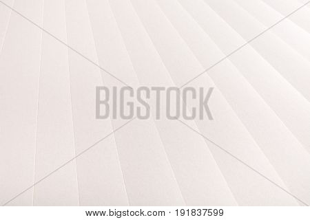Paper sheets range, abstract background. Strict line of blank white pages, stationery backdrop, copy space