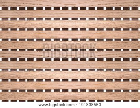 Texture and background from wooden slats, close-up.