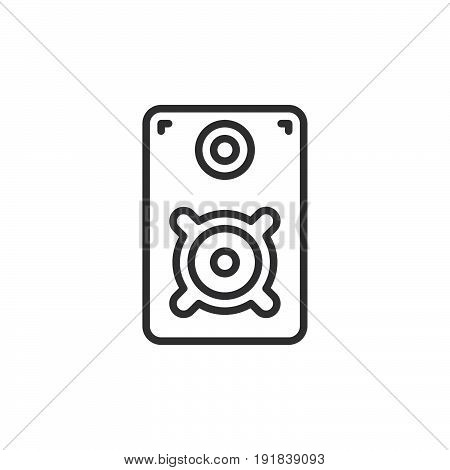 Loud speaker line icon outline vector sign linear style pictogram isolated on white. Symbol logo illustration. Editable stroke. Pixel perfect