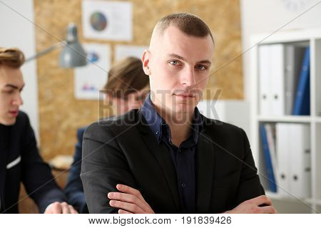 Handsome Smiling Businessman In Suit Portrait