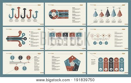 Infographic design set can be used for workflow layout, diagram, annual report, presentation, web design. Business and teamwork concept with process, percentage and bar charts.