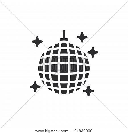 Disco ball icon vector filled flat sign solid pictogram isolated on white. Night club symbol logo illustration. Pixel perfect
